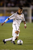 LA Galaxy defender Sean Franklin (28) moves on a ball late in the second half. The Colorado Rapids defeated the LA Galaxy 1-0 during the preliminary rounds of the 2008 US Open Cup at Home Depot Center stadium in Carson, Calif., on Tuesday, May 27, 2008.