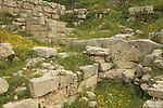 Sebastia, the Israelite acropolis, ruins of the palace of Omri, King of Israel and founder of Shomron-Samaria