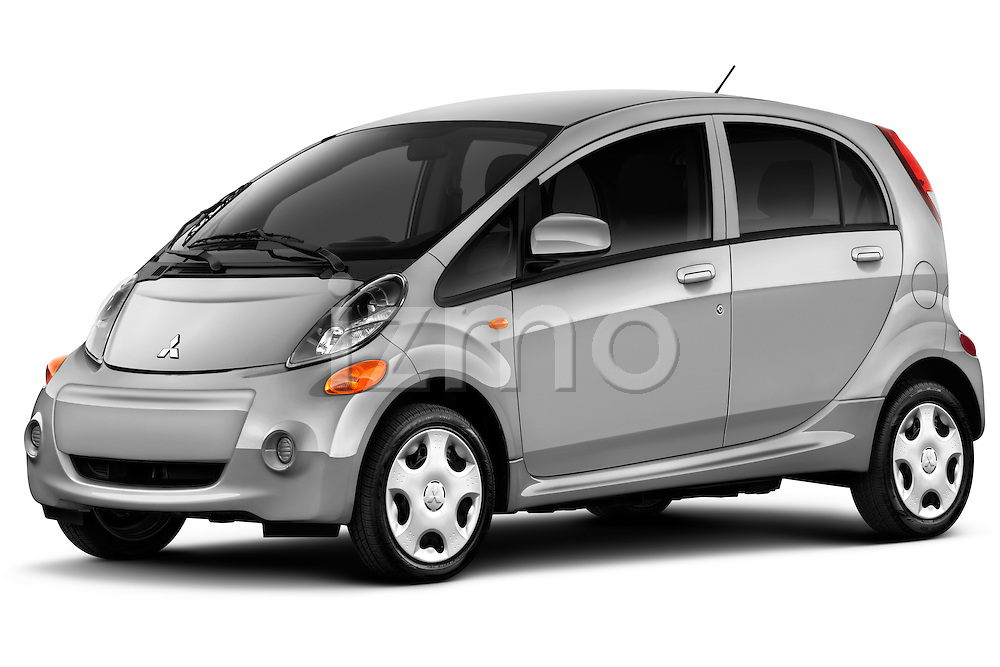 Front three quarter view of a 2012 Mitsubishi MiEV ES.