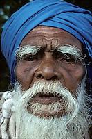 A beggar near Dambulla, Sri Lanka in 1996.