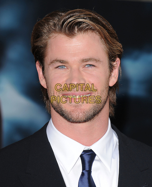 """CHRIS HEMSWORTH.The Marvel Studios Premiere of """"THOR"""" held at The El Capitan Theatre in Hollywod, California, USA. .May 2nd, 2011.headshot portrait black white stubble beard facial hair                                                       .CAP/RKE/DVS.©DVS/RockinExposures/Capital Pictures."""