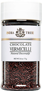 10519 Natural Chocolate Vermicelli, Small Jar 2.6 oz, India Tree Storefront