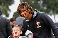 Nathan Ake of AFC Bournemouth has a selfie taken with a young fan during AFC Bournemouth vs Stoke City, Premier League Football at the Vitality Stadium on 3rd February 2018