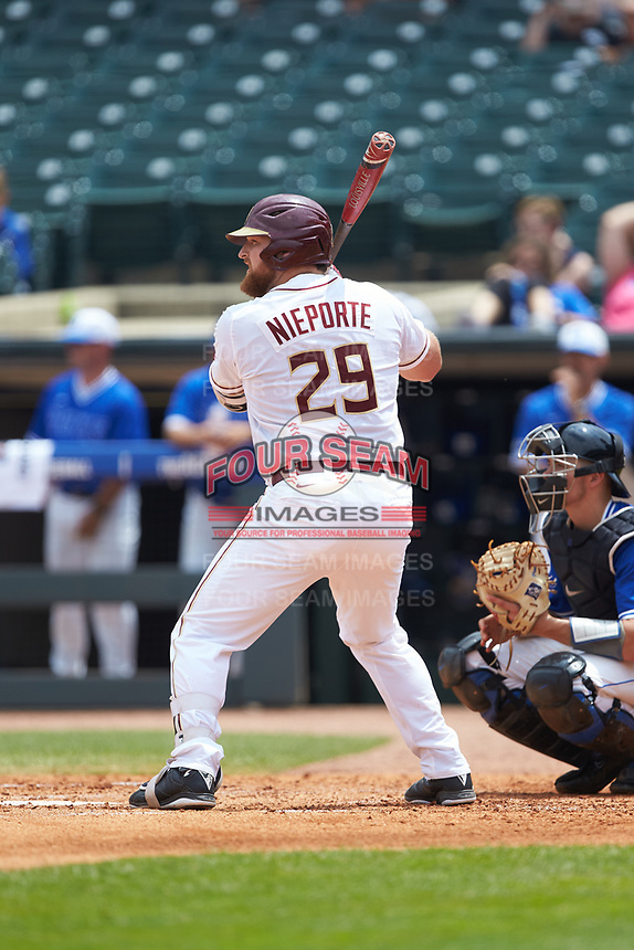 Quincy Nieporte (29) of the Florida State Seminoles at bat against the Duke Blue Devils in the first semifinal of the 2017 ACC Baseball Championship at Louisville Slugger Field on May 27, 2017 in Louisville, Kentucky. The Seminoles defeated the Blue Devils 5-1. (Brian Westerholt/Four Seam Images)