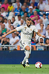 Karim Benzema of Real Madrid in action during the La Liga 2018-19 match between Real Madrid and Getafe CF at Estadio Santiago Bernabeu on August 19 2018 in Madrid, Spain. Photo by Diego Souto / Power Sport Images