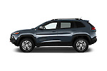 Car driver side profile view of a 2014 Volkswagen Cherokee Trailhawk 4X4 5 Door SUV