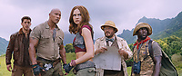 Jumanji: Welcome to the Jungle (2017) <br /> Nick Jonas, Dwayne Johnson, Karen Gillan, Kevin Hart and Jack Black<br /> *Filmstill - Editorial Use Only*<br /> CAP/KFS<br /> Image supplied by Capital Pictures