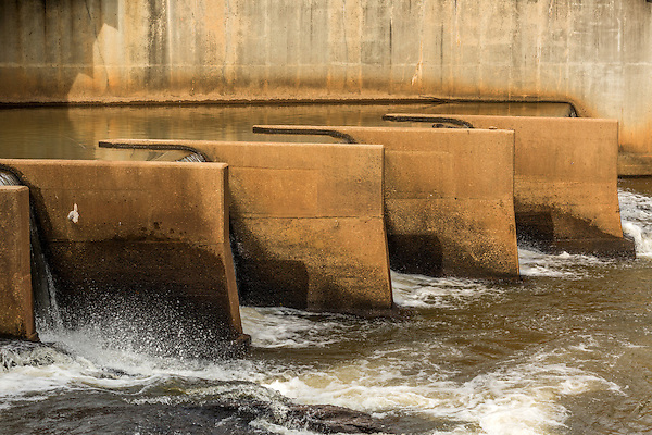 July 6, 2016. Greenville, South Carolina. <br />  The GE Gas Turbine facility is located just miles from downtown Greenville, SC where you can find the Reedy River Falls Historic Park. <br />  At the General Electric Gas Turbine factory, engineers  design, produce, test and repair gas turbines for generating electricity. These turbines weigh more than 900,000 pounds and can create internal combustion temperatures up to 2,900 degrees F. Depending on the model, one of the GE turbines can produce enough electricity for half a million American households.