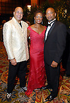 Lloyd Gite, Janice Character and Hiles Daniels at the Ensemble Theatre Gala at the Hilton Americas Hotel Friday Aug. 15,2008. (Dave Rossman/For the Chronicle)