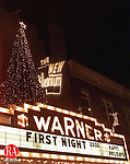 TORRINGTON, CT- 12/31/99- 1231BP05.tif- The Marque of the Warner Theater in downtown Torrington a site at the towns First Night celebration. PHOTO BRIAN PARDA