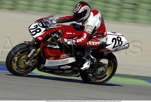 SERAFINO FOTI (ITA), Ducati, during free practice, Superbike World Championship Race, Ricardo Tormo Circuit, Valencia, 030228. Photo:Neil Tingle/Action Plus ...2003  .man men superbikes motorcycle motorcycles bike bikes.     . ...  ..