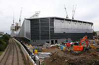 General view from the outside of Brentford's new Community Stadium which is due to open for the start of season 2020/21 and will be home to London Irish RFC and Brentford FC during Brentford vs Bristol City, Sky Bet EFL Championship Football at Griffin Park on 2nd October 2019