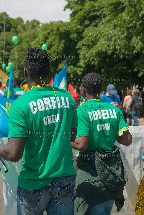 Milano, 20 maggio 2017, Marcia per l&rsquo;accoglienza, l&rsquo;integrazione dei migranti e una societ&agrave; multietnica. <br /> Milan, 20 May 2017, March for the welcome, integration of migrants and a multiethnic society.