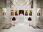 Iconostasis, Church of the 40 Martyrs of Sebaste, constructed in 1230 and the place of repose (death) of St. Sava in 1236.<br /> <br /> Veliko Tarnovo, Bulgaria