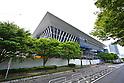Construction work at the Tokyo Aquatics Center for Tokyo 2020