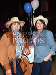 Annmarie Burton and Sandra McShane pictured at the barn dance in aid of Ballapousta National School at Oberstown Farm. Photo:Colin Bell/pressphotos.ie