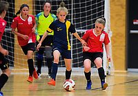 Girls' futsal match between John Paul College Rotorua and Bucklands Beach Intermediate on Day six of the 2019 AIMS games at Trustpower Arena in Mount Maunganui, New Zealand on Friday, 13 September 2019. Photo: Dave Lintott / lintottphoto.co.nz