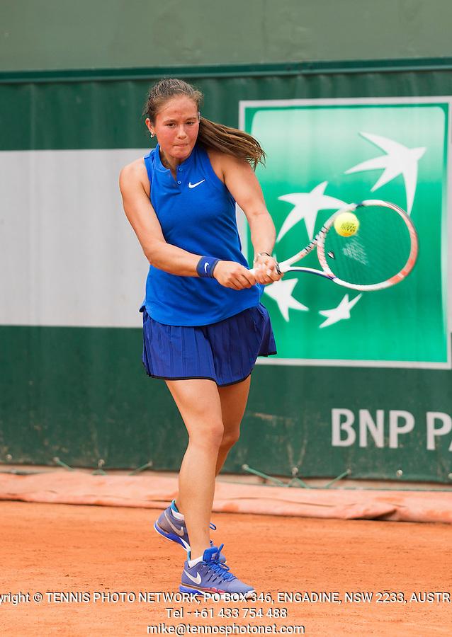 DARIA KASATKINA (RUS)<br /> <br /> TENNIS - FRENCH OPEN - ROLAND GARROS - ATP - WTA - ITF - GRAND SLAM - CHAMPIONSHIPS - PARIS - FRANCE - 2016  <br /> <br /> <br /> <br /> &copy; TENNIS PHOTO NETWORK