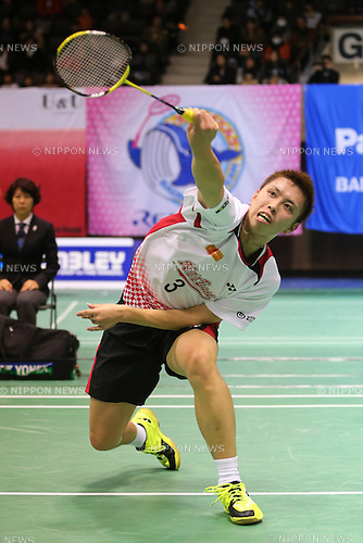 Kenichi Tago (JPN), .December 9, 2012 - Badminton : .The 66th All Japan Badminton Championships 2012, Men's Singles Final .at Yoyogi 2nd Gymnasium, Tokyo, Japan. .(Photo by Daiju Kitamura/AFLO SPORT) [1045]