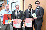 Malachy Godfrey, Mayor Paul Bell, Pastor Amos Ngugi and Senator James Carroll at the Launch of the Drug Awareness Leaflets by Acts of Compassion Ministries Pastor Amos Ngugi...Photo NEWSFILE/Jenny Matthews.(Photo credit should read Jenny Matthews/NEWSFILE)....This Picture has been sent you under the condtions enclosed by:.Newsfile Ltd..The Studio,.Millmount Abbey,.Drogheda,.Co Meath..Ireland..Tel: +353(0)41-9871240.Fax: +353(0)41-9871260.GSM: +353(0)86-2500958.email: pictures@newsfile.ie.www.newsfile.ie.FTP: 193.120.102.198.