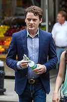 NEW YORK, NY - JUNE 8: Anton Yelchin at the 5 to 7 Film Shoot in New York City. June 8, 2013. Photo by  RTStulich / MediaPunch