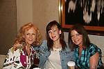 Jill Larson - Brittany Allen - Bobbie Eakes attend All My Children Fan Luncheon on September 13, 2009 at the New York Helmsley Hotel, NYC, NY. (Photo by Sue Coflin/Max Photos)