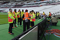 Stewards at the Olympic stadium during West Ham United vs Burnley, Premier League Football at The London Stadium on 3rd November 2018