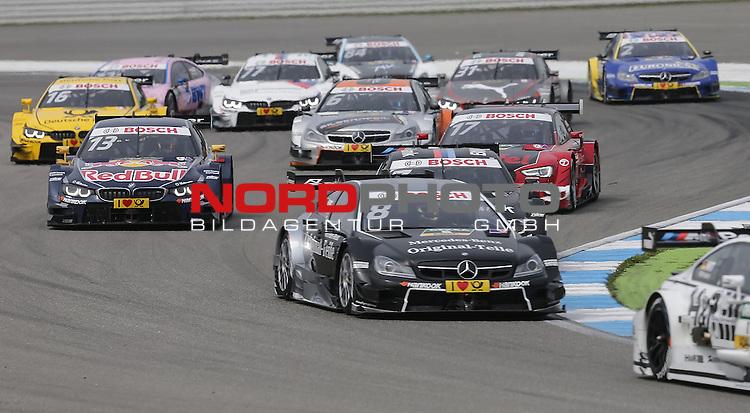 DTM 2015, 01.Lauf Hockenheimring, 01.05. - 03.05.15 <br /> Rennstart<br /> Paul Di Resta (GBR#3) Silberpfeil Energy Mercedes-AMG Christian Vietoris (DEU#8) gooix/Original-Teile Mercedes-AMG C-Coup&eacute; , Ant&oacute;nio F&eacute;lix da Costa (POR#13) BMW Team Schnitzer BMW M4 DTM <br /> <br /> <br /> <br /> Foto &copy; nordphoto /  Bratic