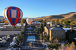 Balloons launch over downtown Carson City, Nev., on Saturday, Oct. 31, 2015. <br /> Photo by Cathleen Allison