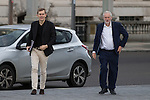 © Joel Goodman - 07973 332324 . 25/09/2016 . Liverpool , UK . SEAMUS MILNE and JEREMY CORBYN arrive at the Museum of Liverpool for The Marr Show during a round of Sunday morning political interviews from the Docks in Liverpool on the first day of the Labour Party Conference . Photo credit : Joel Goodman