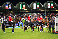 Team Germany take the Title for the Mercedes-Benz Nationenpreis - Nations Cup Team Jumping Competition. 2017 GER-CHIO Aachen Weltfest des Pferdesports. Thursday 20 July. Copyright Photo: Libby Law Photography