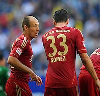 FUSSBALL   1. BUNDESLIGA   SAISON 2012/2013   LIGA TOTAL CUP  FC Bayern Muenchen - SV Werder Bremen       04.08.2012 Arjen Robben (li) und Mario Gomez (re, beide FC Bayern Muenchen) sind enttaeuscht