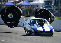 Sept. 29, 2012; Madison, IL, USA: NHRA pro mod driver Raymond Commisso during qualifying for the Midwest Nationals at Gateway Motorsports Park. Mandatory Credit: Mark J. Rebilas-