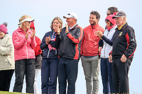 Members watching Deirdre Smith (Co. Louth) during the final round at the Irish Woman's Open Stroke Play Championship, Co. Louth Golf Club, Louth, Ireland. 12/05/2019.<br /> Picture Fran Caffrey / Golffile.ie<br /> <br /> All photo usage must carry mandatory copyright credit (&copy; Golffile | Fran Caffrey)