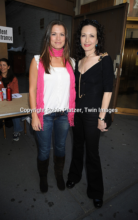 Melissa Claire Egan and Bebe Neuwirth..at The Broadway Cares/Equity Fights Aids 22nd Annual Broadway Flea Market on September 21, 2008 in Shubert Alley in New York City. ....Robin Platzer, Twin Images