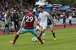 29.07.2017, Fritz Detmar Stadion, Lohne, GER, FSP SV Werder Bremen (GER) vs WestHam United (ENG), <br /> <br /> im Bild<br /> <br /> Tony Martinez  (WestHam)<br /> Thomas Delaney (Werder Bremen #6)<br /> Foto &copy; nordphoto / Kokenge