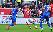 4th November 2017, Ashton Gate, Bristol, England; EFL Championship football, Bristol City versus Cardiff City; Callum O'Dowda of Bristol City shoots and scores the first goal