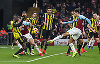 Burnley's Dwight McNeil shoots over the bar<br /> <br /> Photographer Andrew Kearns/CameraSport<br /> <br /> The Premier League - Watford v Burnley - Saturday 19 January 2019 - Vicarage Road - Watford<br /> <br /> World Copyright © 2019 CameraSport. All rights reserved. 43 Linden Ave. Countesthorpe. Leicester. England. LE8 5PG - Tel: +44 (0) 116 277 4147 - admin@camerasport.com - www.camerasport.com