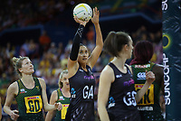 02.08.2017 Silver Ferns Maria Tutaia in action during a netball match between the Silver Ferns and South Africa at the Brisbane Entertainment Centre in Brisbane Australia. Mandatory Photo Credit ©Michael Bradley.