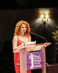 Bernadette Peters receives John Willis Award - 72nd Annual Theatre World Awards hosted by Peter Filichia at Circle in the Square Theatre on May 23, 1916 in New York City, New York. (Photo by Sue Coflin/Max Photos)