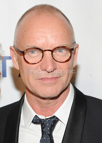 New York, NY- October 7:  Sting attends the Friars Foundation Gala  at the Waldorf-Astoria on October 7, 2014 in New York City. Credit: John Palmer/MediaPunch