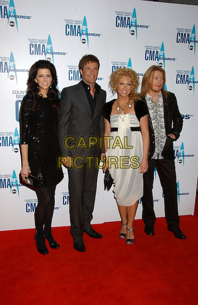 LITTLE BIG TOWN.40th Annual CMA Awards held at Gaylord Entertainment Center, Nashville, Tennessee, USA..November 6th, 2006.Ref: ADM/LF.full length black white dress grey gray suit.www.capitalpictures.com.sales@capitalpictures.com.©Laura Farr/AdMedia/Capital Pictures.
