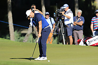 Tom Lewis (ENG) putts on the 16th green during Friday's Round 2 of the 2018 Turkish Airlines Open hosted by Regnum Carya Golf &amp; Spa Resort, Antalya, Turkey. 2nd November 2018.<br /> Picture: Eoin Clarke | Golffile<br /> <br /> <br /> All photos usage must carry mandatory copyright credit (&copy; Golffile | Eoin Clarke)