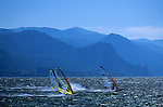 Windsurfer on the Columbia River near Hood River, Oregon State