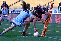 Vince Aso of Wellington scores a try during the Mitre 10 Cup - Wellington v Norrhland at Westpac Stadium, Wellington, New Zealand on Saturday 28 September 2019. <br /> Photo by Masanori Udagawa. <br /> www.photowellington.photoshelter.com