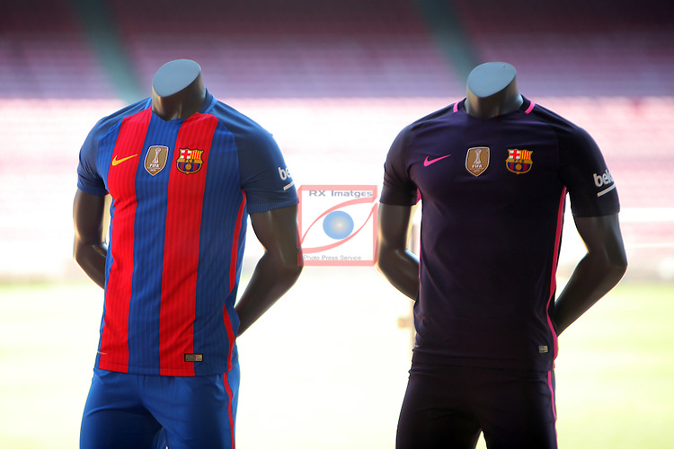 League BBVA 2016/2017.<br /> Samuel Umtiti presented as new player of FC Barcelona.