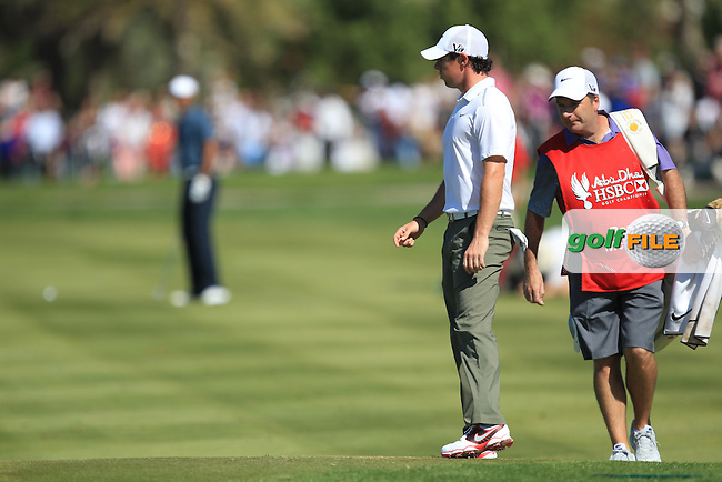 Rory McIlroy (NIR) on the 1st during the second round at the Abu Dhabi HSBC Golf Championship in the Abu Dhabi golf club, Abu Dhabi, UAE..Picture: Fran Caffrey/www.golffile.ie.
