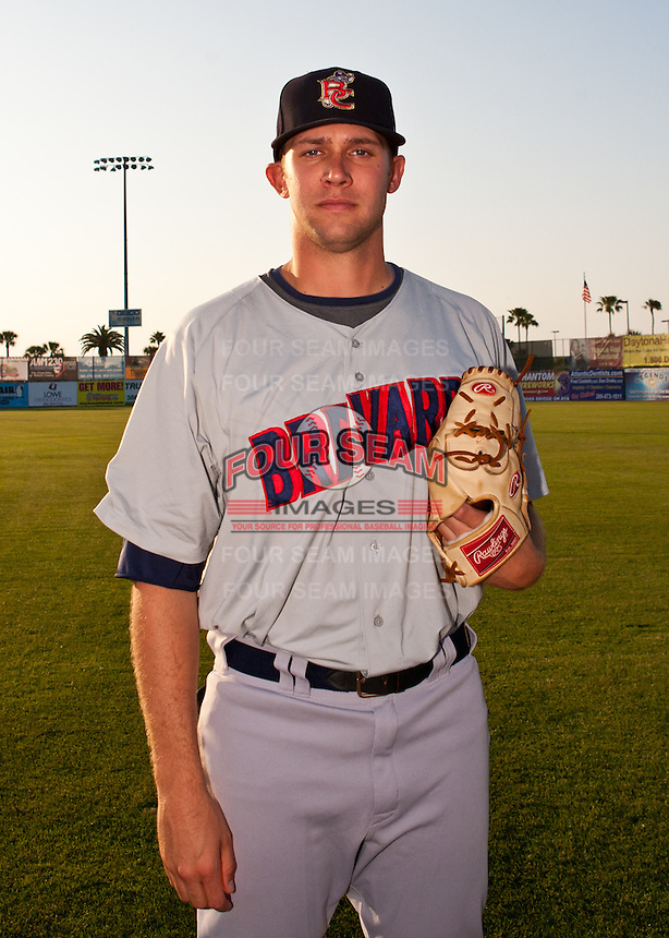 Pitcher Kyle Heckathorn #45 of the Brevard County Manatees poses before the game against the Daytona Beach Cubs at Jackie Robinson Ballpark on April 9, 2011 in Daytona Beach, Florida. Photo by Scott Jontes / Four Seam Images