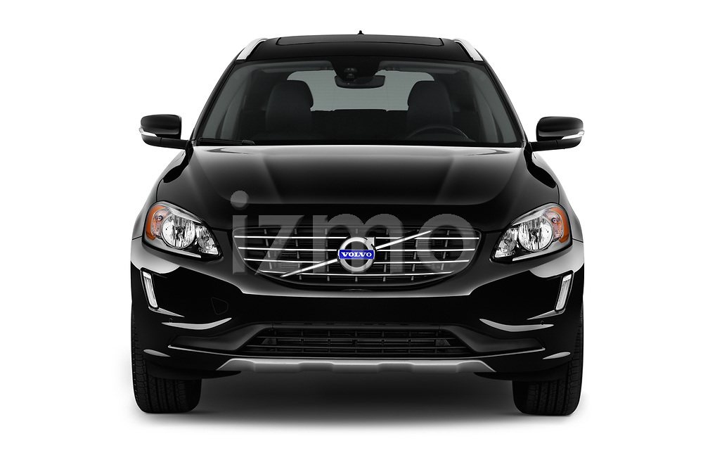 Car photography straight front view of a 2017 Volvo XC60 Inscription 5 Door SUV Front View