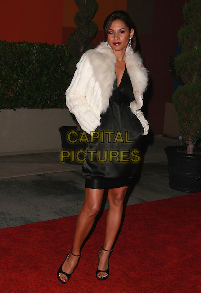 SALLI RICHARDSON.15th Annual Diversity Awards held at the Globe Theatre at Universal Studios Hollywood, Universal City, California, USA,18 November 2007..full length white fur coat jacket.CAP/ADM/CH.©Charles Harris/AdMedia/Capital Pictures.
